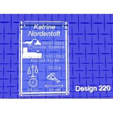 Dåbsglas firkantet type 50x50x80 mm - 60x60x90 mm